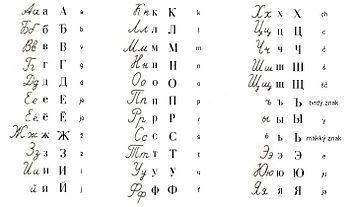 alphabet cyrillique russe