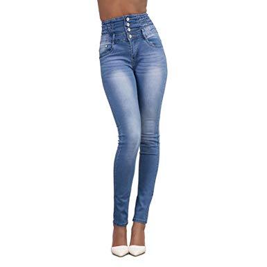 amazon jean femme taille haute