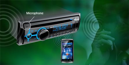 autoradio bluetooth micro intégré