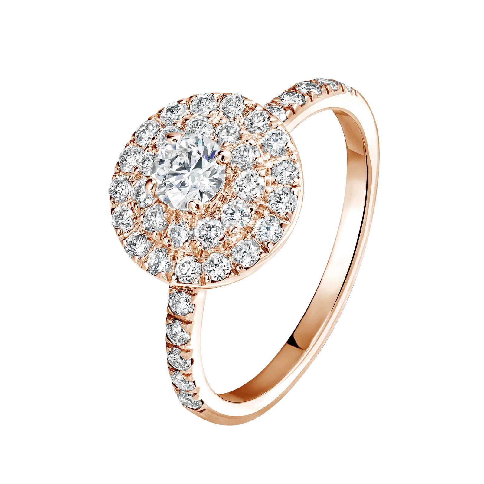bague or rose diamant