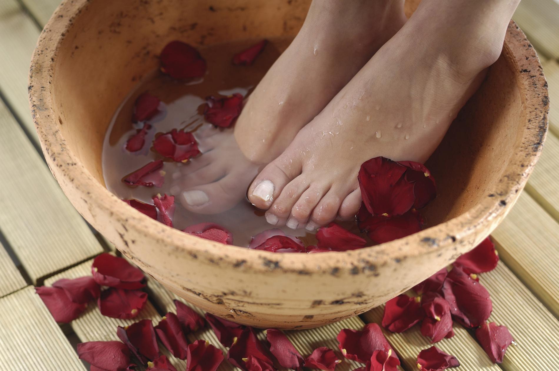bain des pieds maison