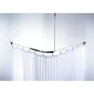 barre rideau de baignoire angle