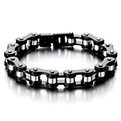 bracelet chaine moto femme
