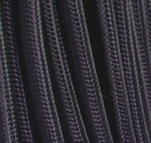 cable electrique tissu noir