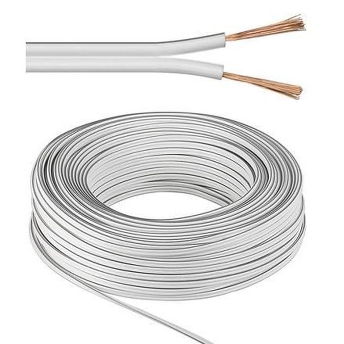 cable enceinte blanc
