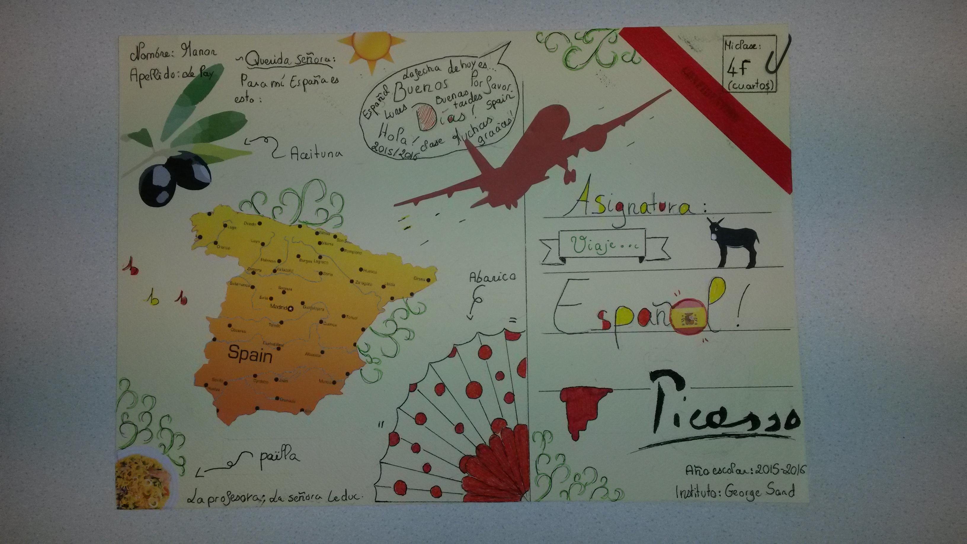 cahier en espagnol
