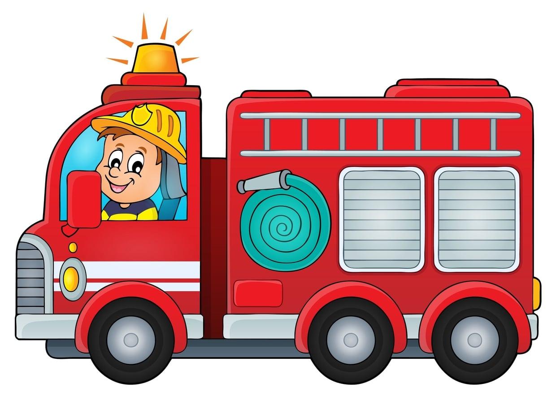 camion de pompier dessin