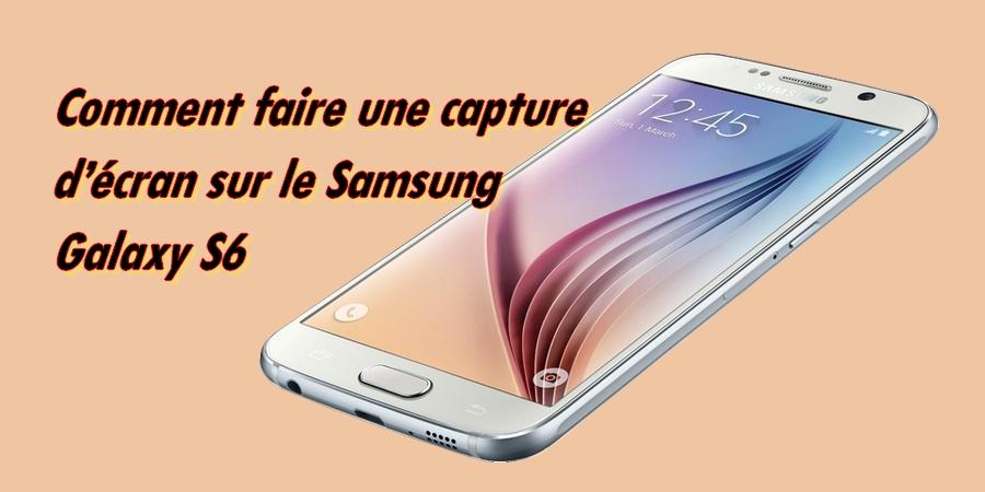 capture d écran sur samsung s6