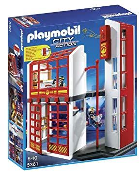 caserne de pompier playmobil