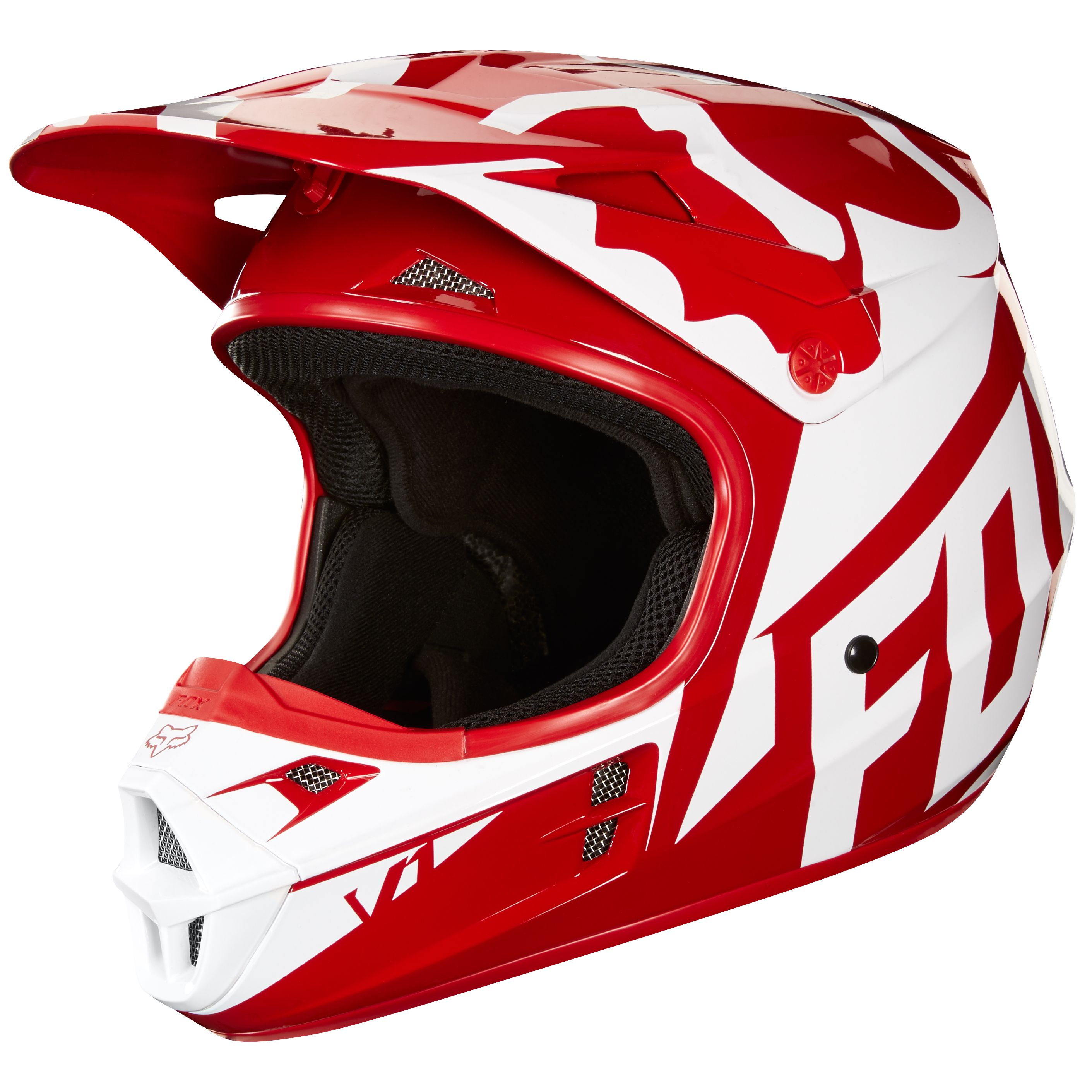 casque cross rouge