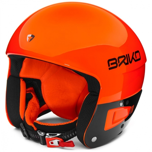 casque de ski orange