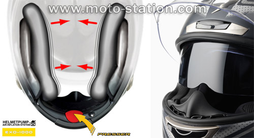 casque moto gonflable
