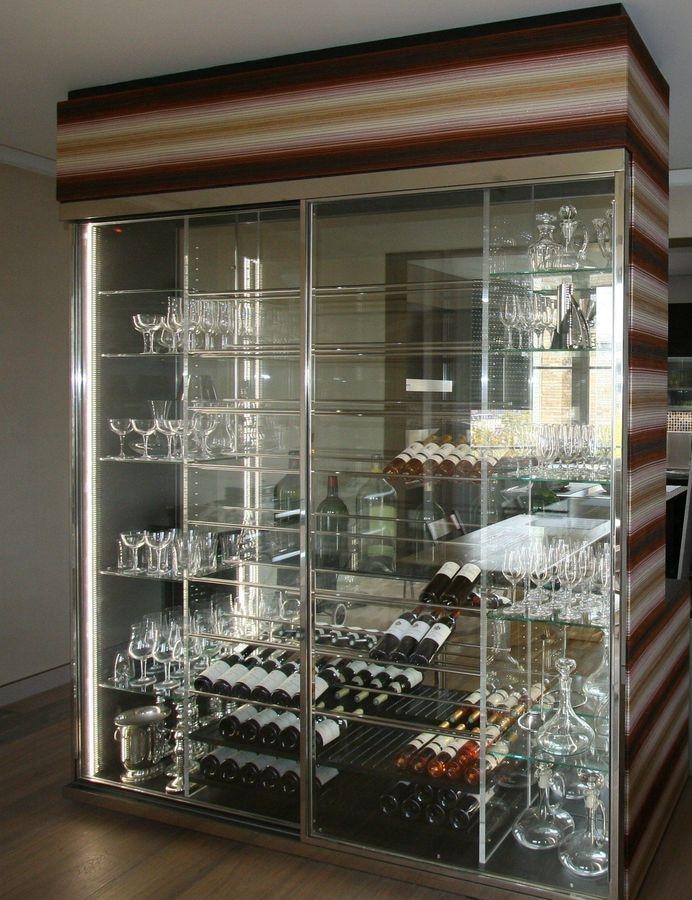 cave a vin transparente