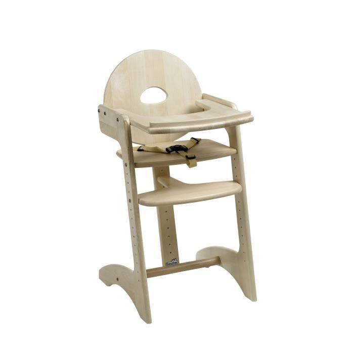 chaise haute en bois pas cher
