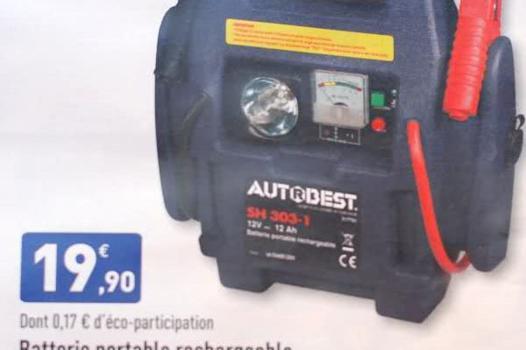 chargeur batterie portable voiture