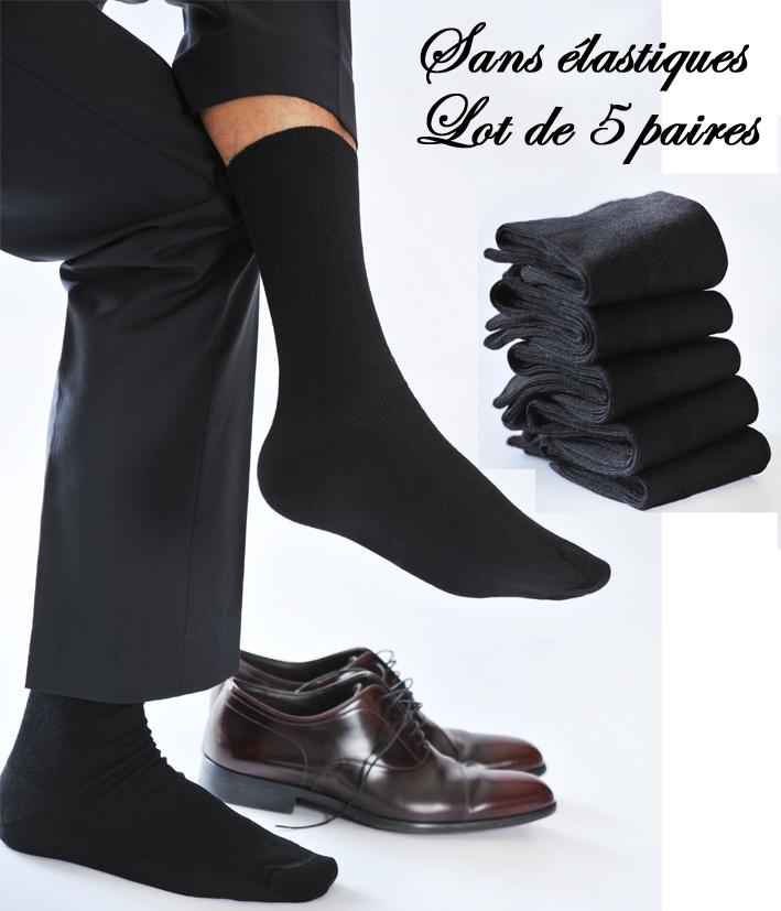 chaussettes sans elastiques pour homme