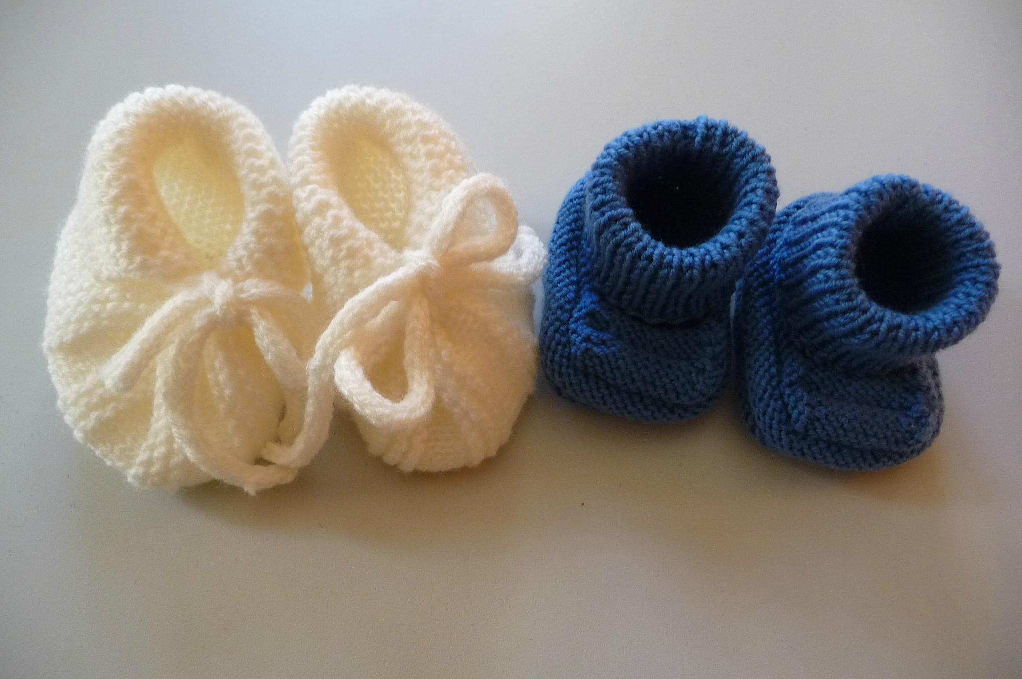 chaussons de bebe facile a tricoter