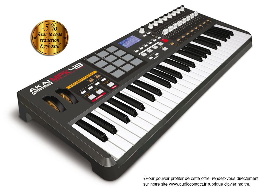 clavier midi toucher piano