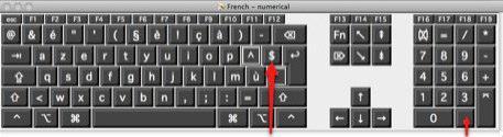 clavier touche euro