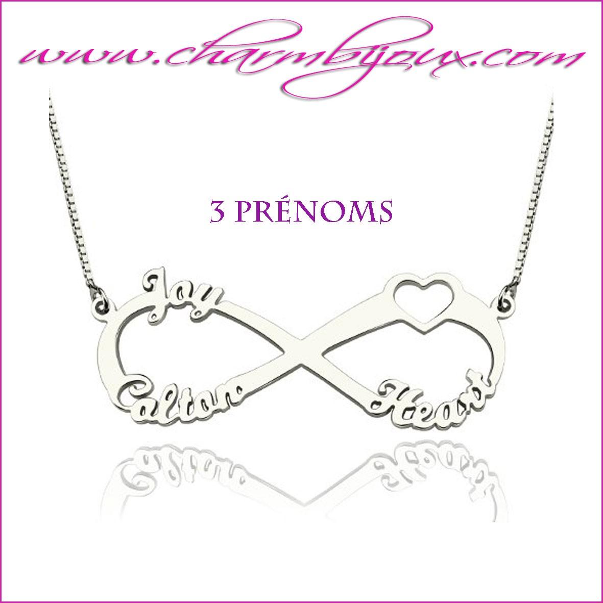 collier avec 3 prenoms