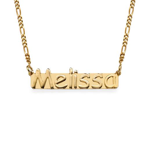 collier prénom plaqué or