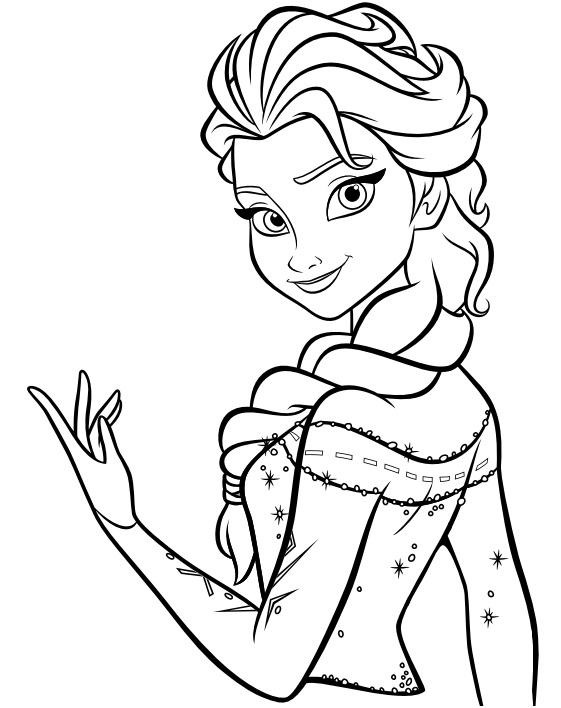 coloriage reine des neiges facile