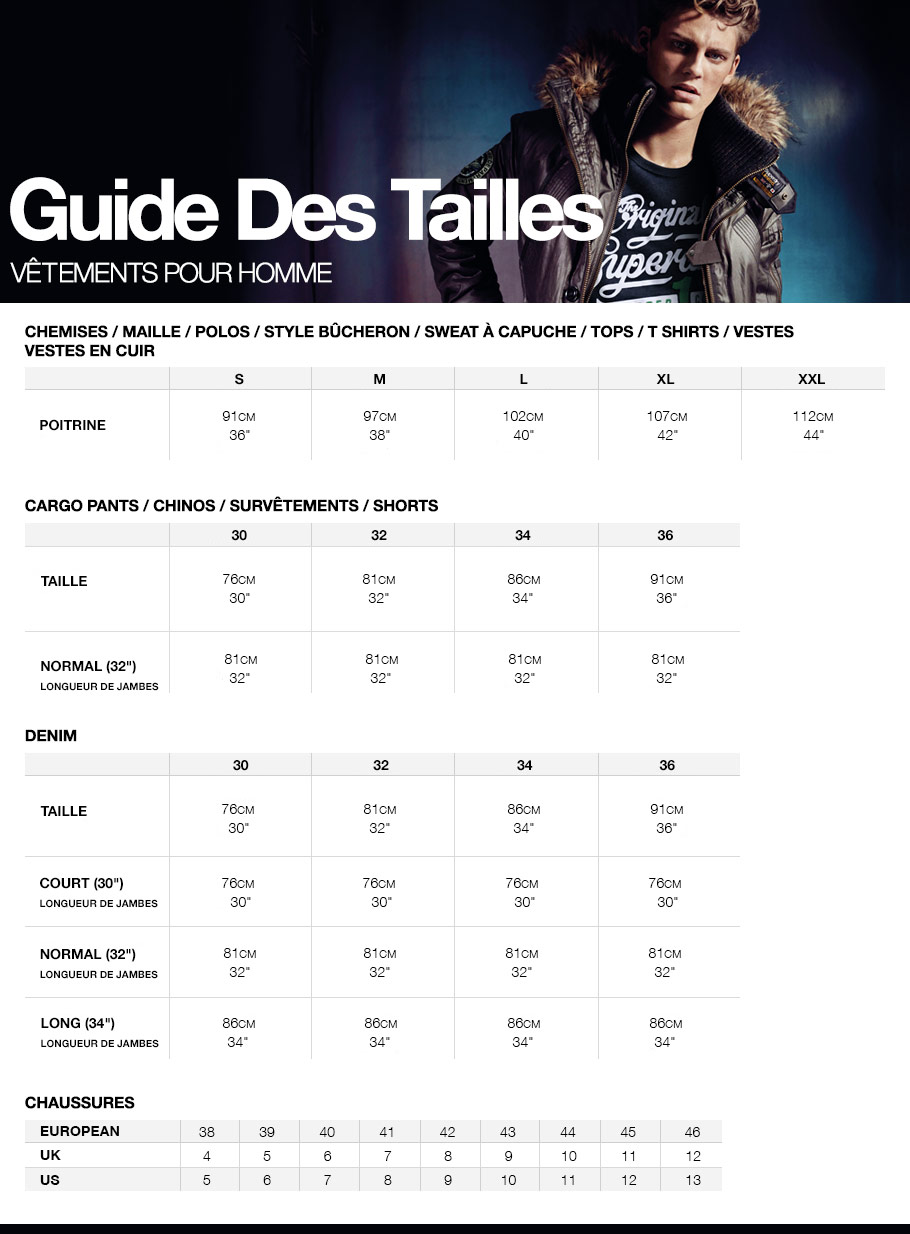 comment taille superdry