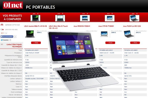comparateur pc portable