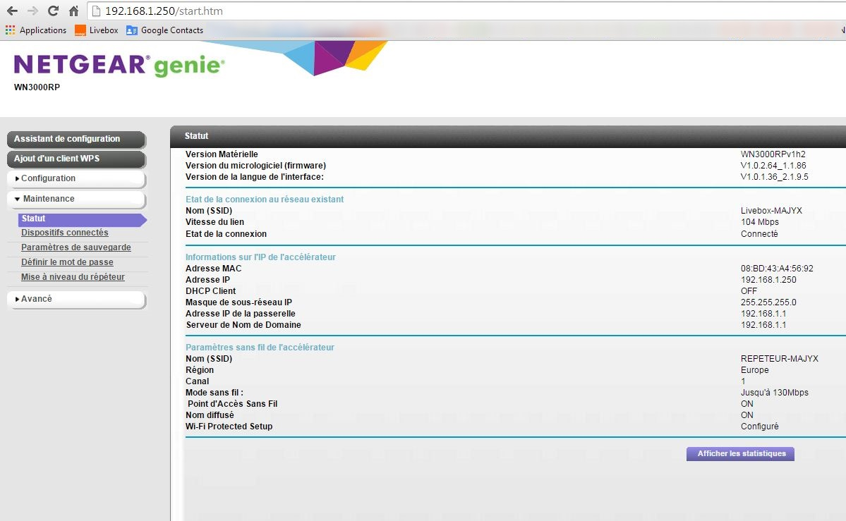 configurer repeteur wifi netgear