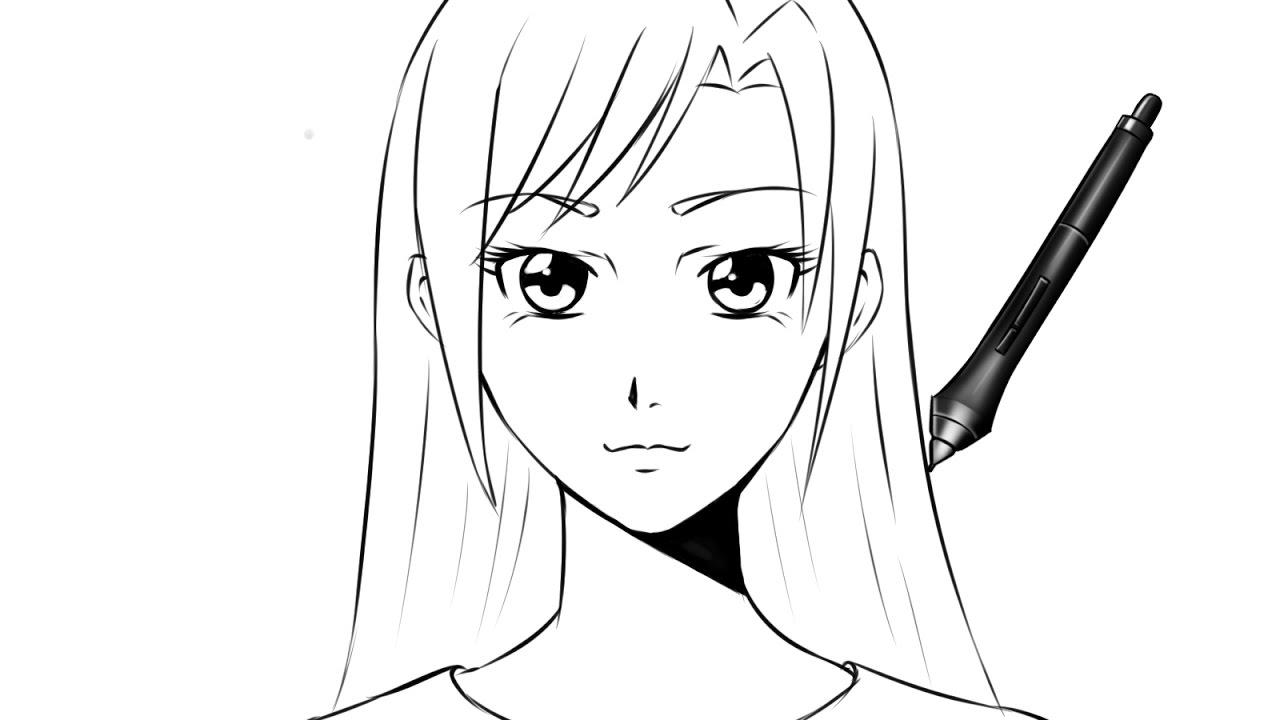 dessiner une fille de face