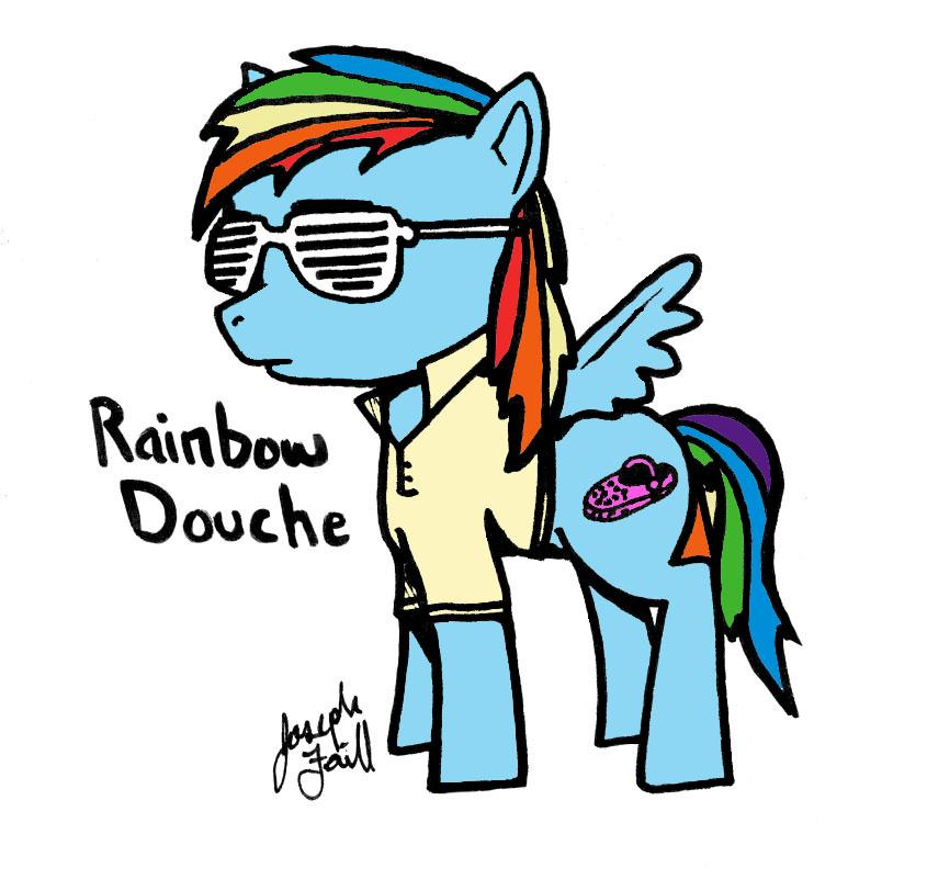 douche rainbow