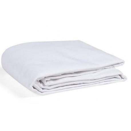 drap coton blanc