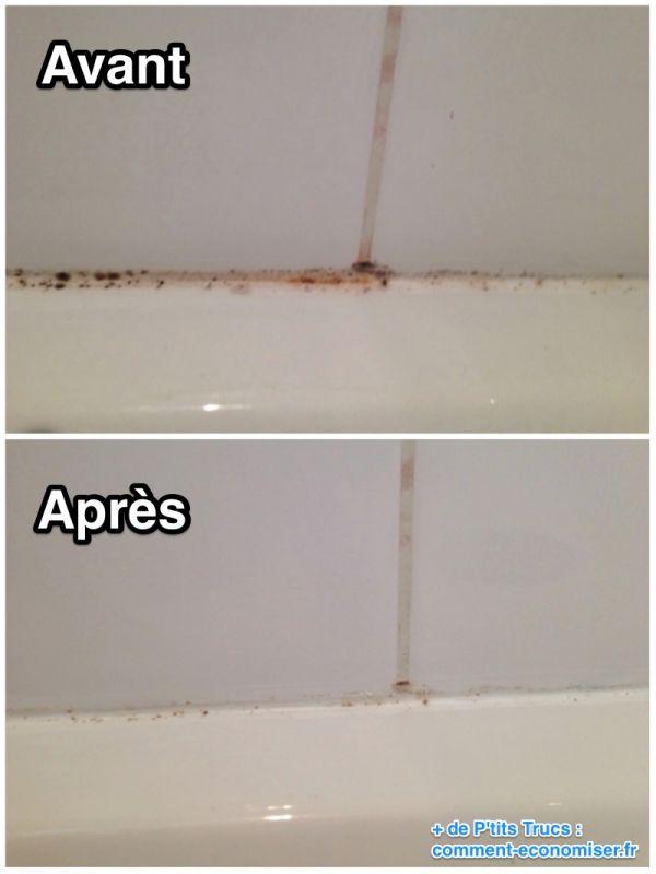 enlever la moisissure douche