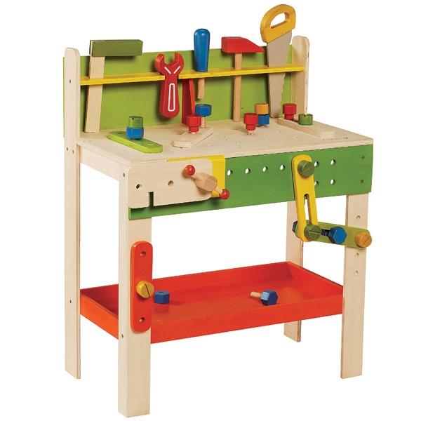 établi en bois jouet