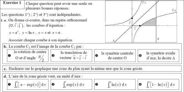 exercice math bac s