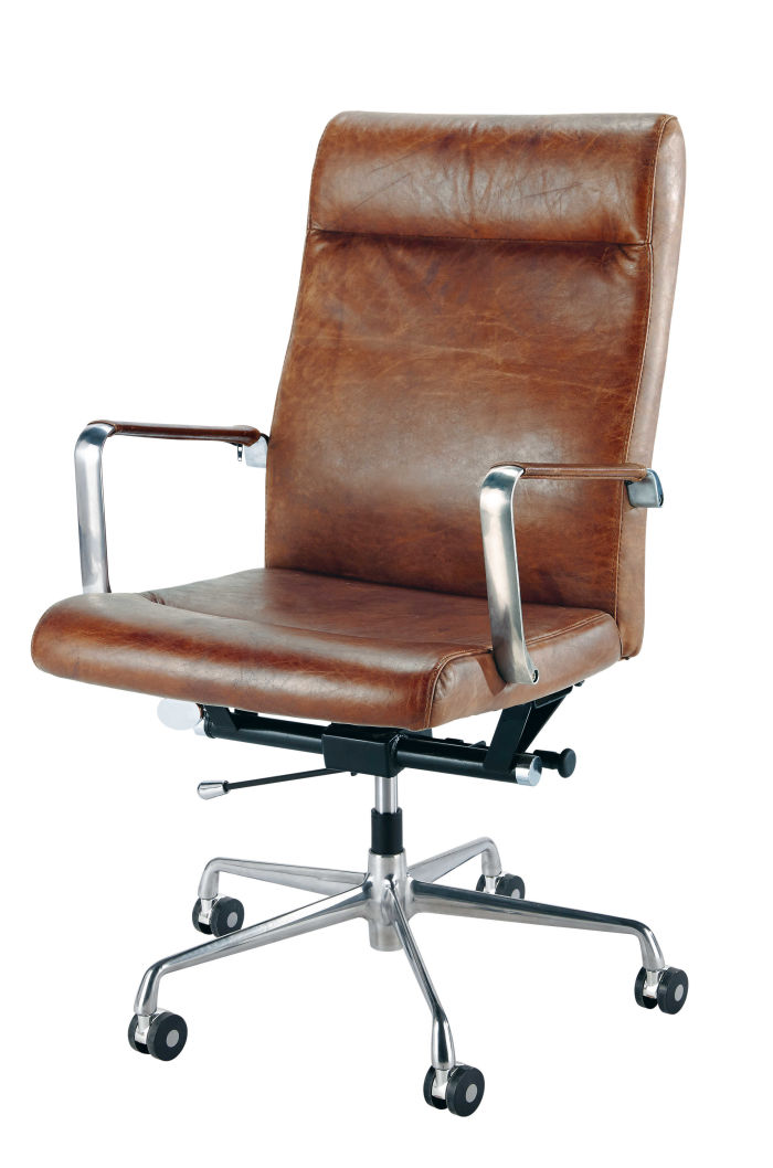 fauteuil de bureau cuir marron