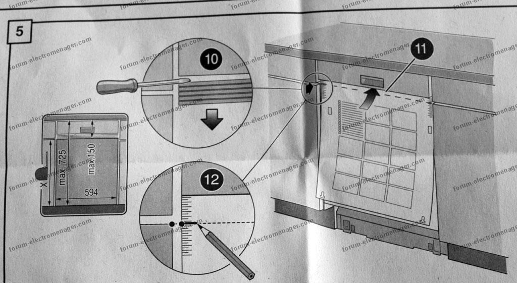 fixation porte lave vaisselle