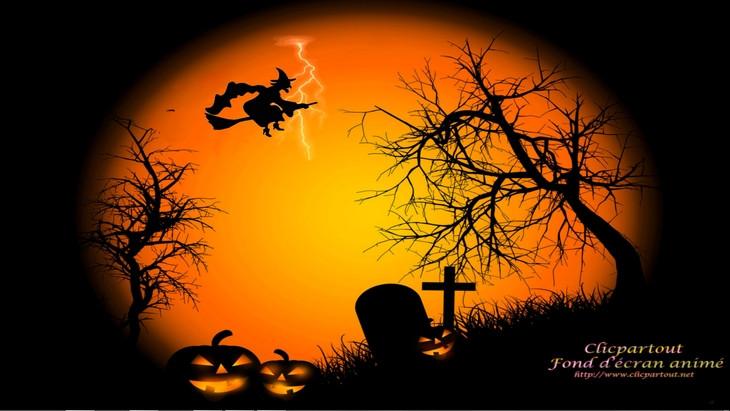 fond d écran animé halloween