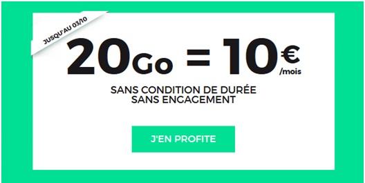 forfait 20 go pas cher