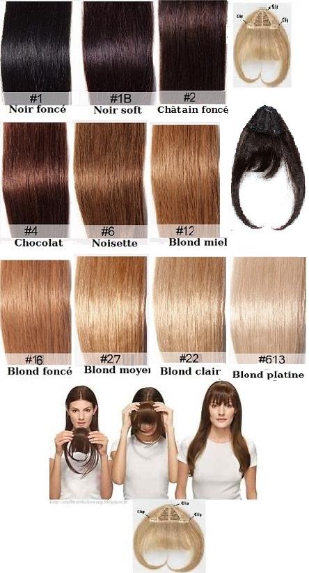 frange clip cheveux naturels