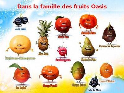 fruit avec un a