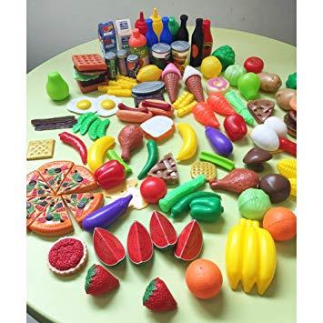fruits et légumes en plastique jouets