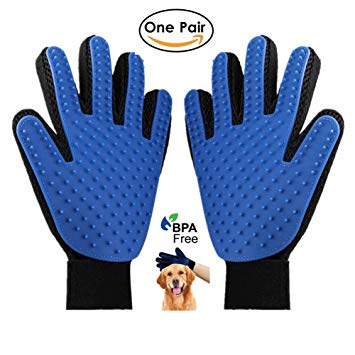 gant ramasse poils et massage pour chiens et chats