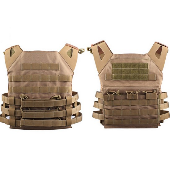 gilet tactique airsoft tan