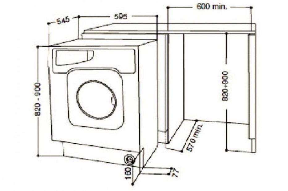 machine a laver taille