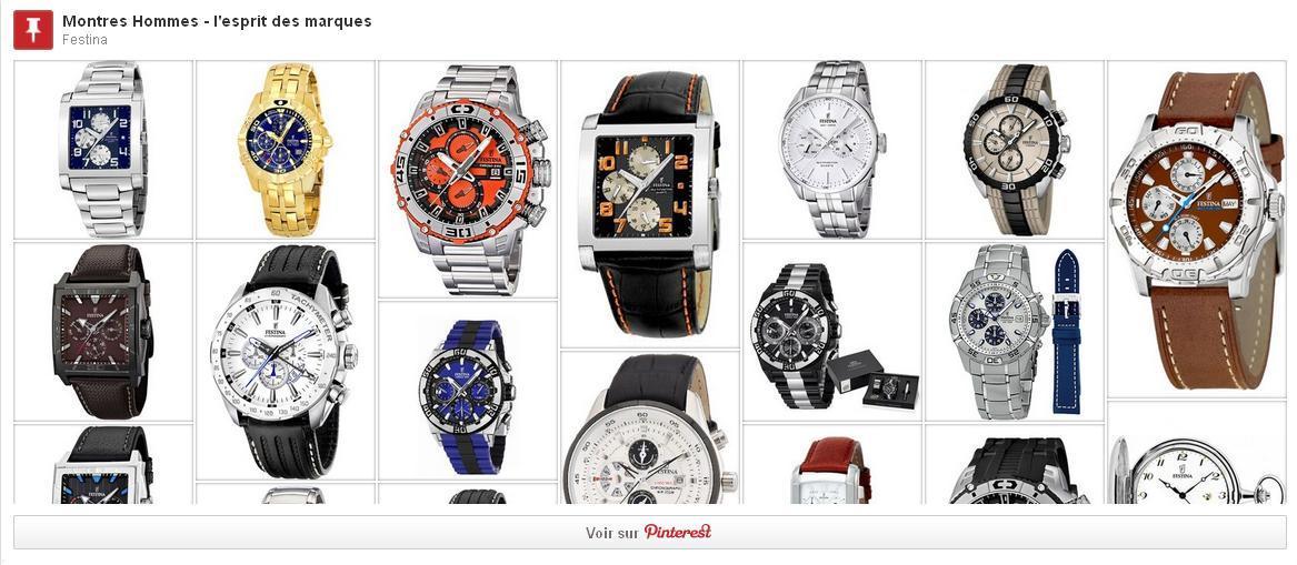 marques montres homme