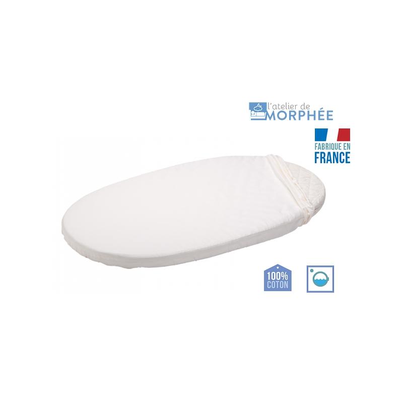 matelas berceau ovale 40x90