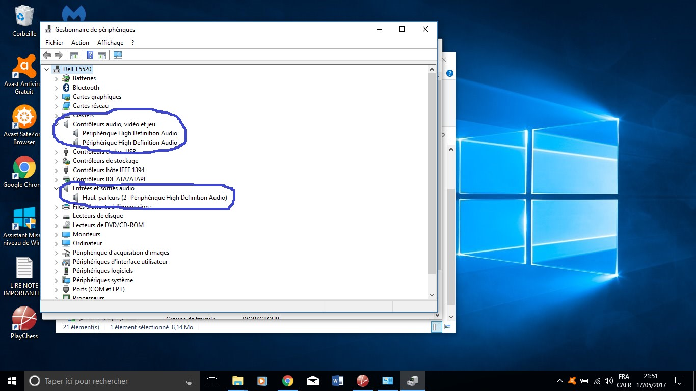 micro intégré ne fonctionne pas windows 10