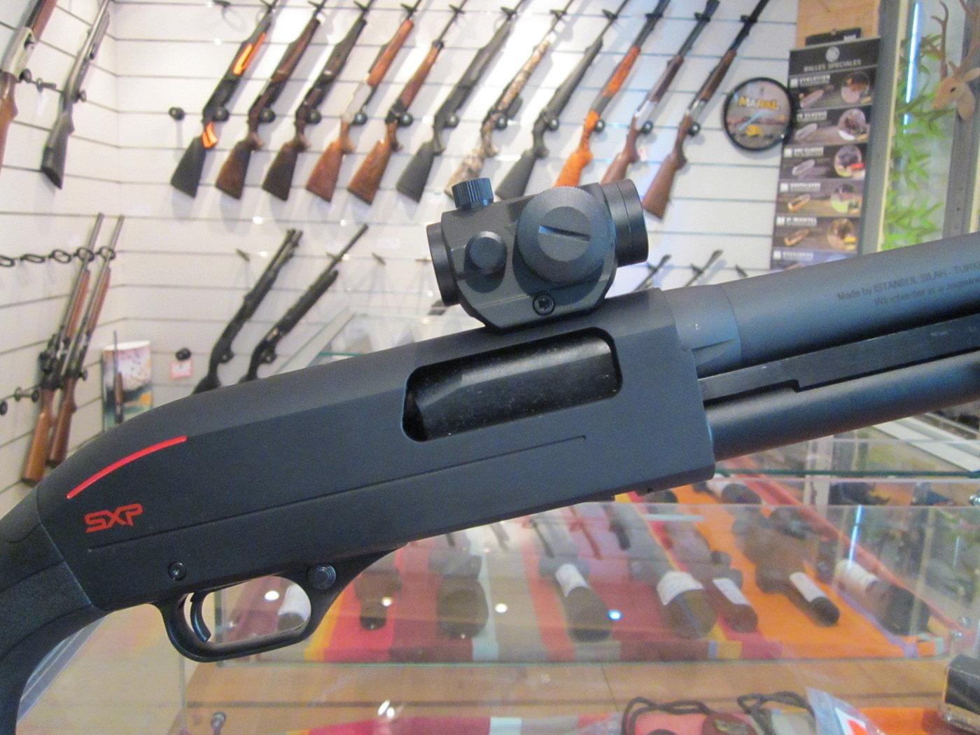 montage point rouge sur fusil