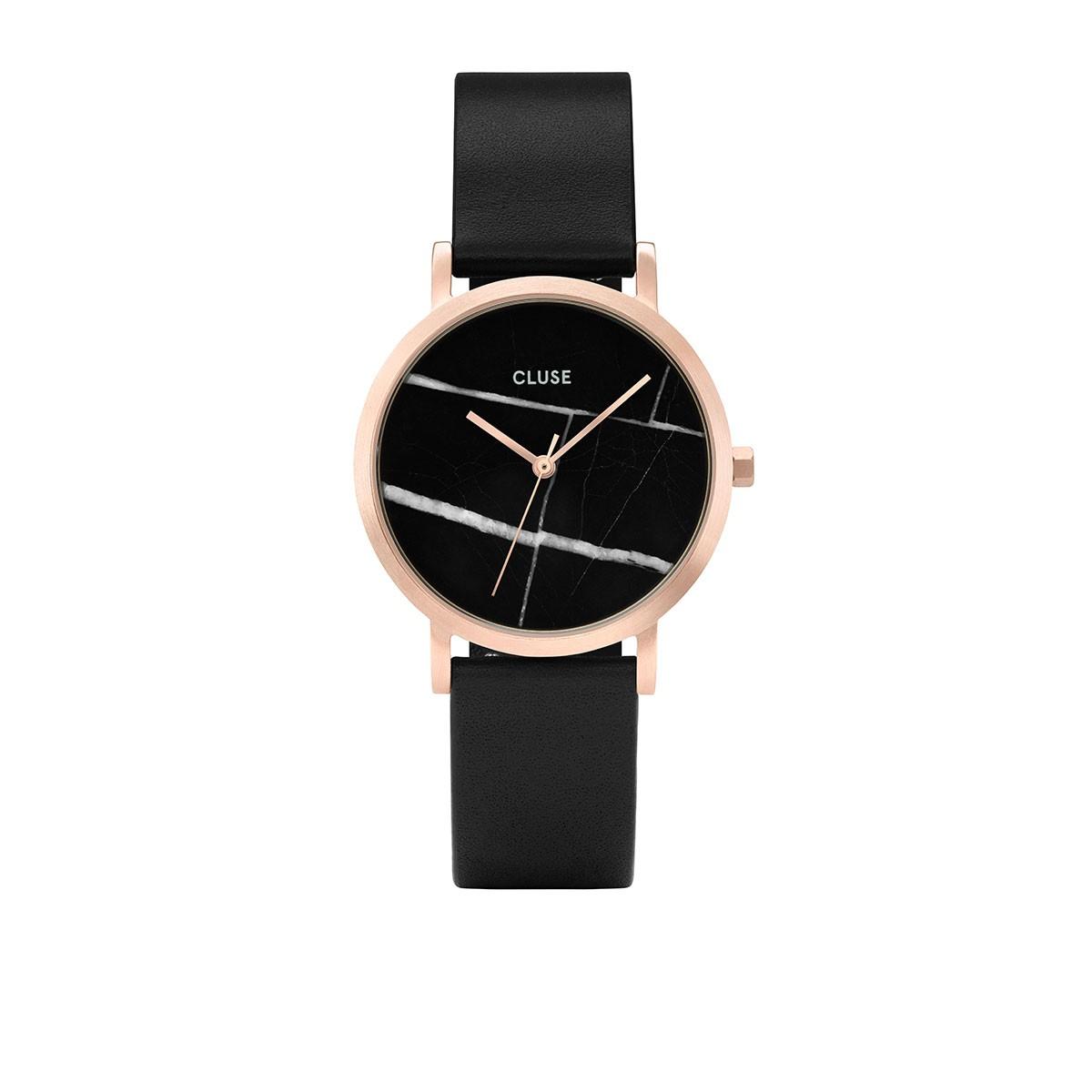 montre cluse rose et noir